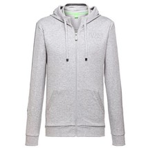 NEW HUGO BOSS MEN'S PREMIUM ZIP UP SPORT HOODIE SWEATSHIRT JACKET GRAY 50290162