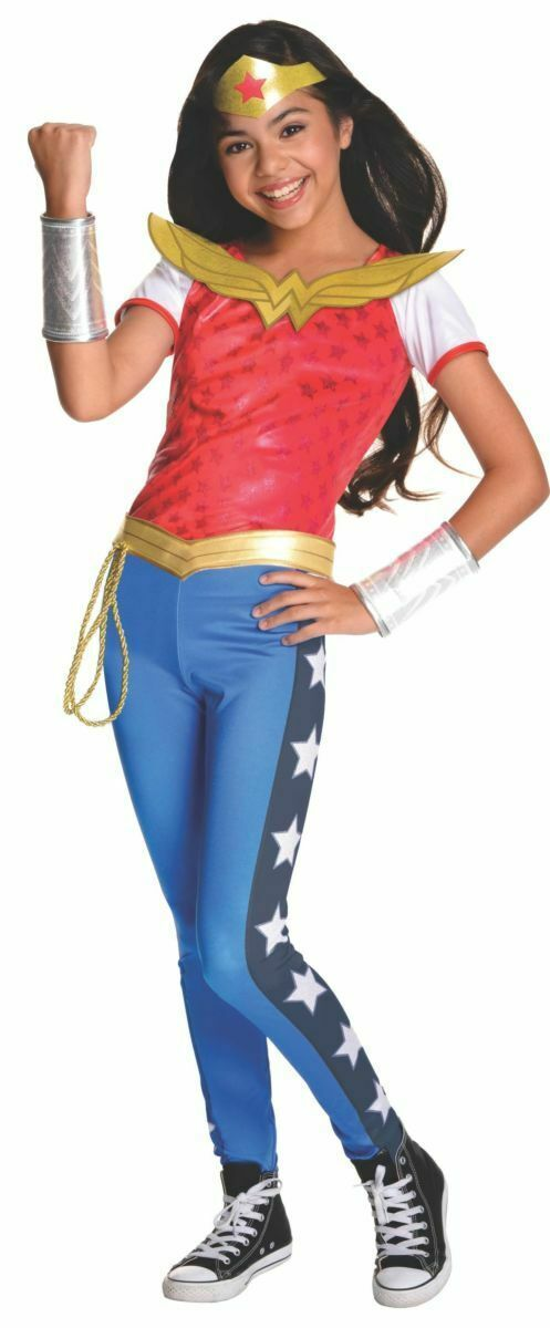 Rubies Wonder Woman Superheld Dc Comic Deluxe Kinder Halloween Kostüm 620716 - $32.67