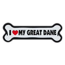 "Refrigerator Magnet - Dog Bone Shape - I Love My Great Dane - 10"" x 3"" (... - $8.99"