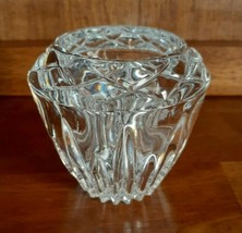 Princess House Highlights Lead Crystal Candle Votive Holder #872 - $14.99