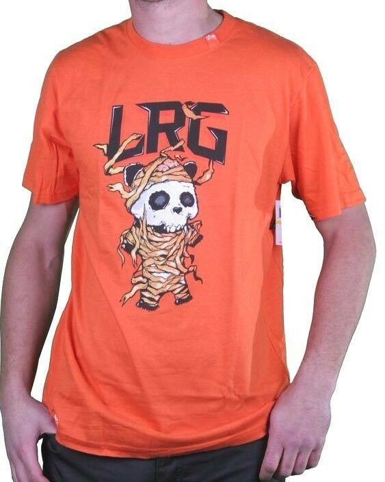 LRG Mummy Wrapped Panda Men's Orange Premium Fit Graphic T-Shirt NWT