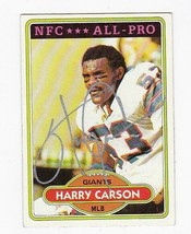 HARRY CARSON AUTOGRAPHED CARD 1980 TOPPS NEW YORK GIANTS - $5.88