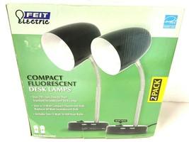 FEIT Electric Compact Fluorescent Desk Lamps  2-Pack Black - $49.01