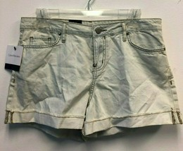 Calvin Klein Jeans Women's Easy Rolled cuffs Shorts, Blue Mist, Size 6 - $13.06