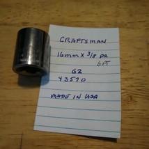 """Craftsman  16 mm x 3/8"""" Dr Socket 6 Pt G2 43570 - $13.09 CAD"""