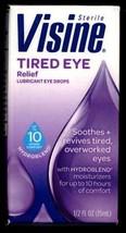 Visine Tired Eye Relief Lubricant Eye Drops Long Lasting Moisturizers 10... - $9.99