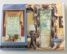 Vogue Sewing Pattern 1729 Drapes & Valances Mario Buatta Window Treatmen... - $8.79