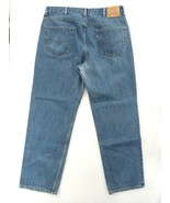 Levis 550 Regular Fit Jeans Mens Size 40X32 Blue distress with template - $12.30