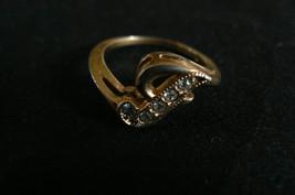 "Vintage Avon Goldtone Letter "" J "" Rhinestone Ring - $12.86"