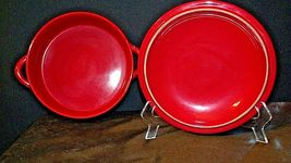 Red W.M.G. Ceramic Double Handle Serving Dish with Lid AA20-2128 Vintage image 3