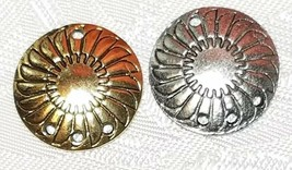 SHIELD ONE TO THREE HOLE FINE PEWTER EARRING PART 18 x 22 x 2mm image 1