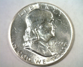 1949 FRANKLIN HALF DOLLAR CHOICE ABOUT UNCIRCULATED CH. AU NICE ORIGINAL... - $27.00