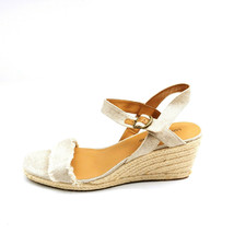 Lucky Brand Womens Marceline Frayed Espadrille Wedge Sandals Grey 11M New  - $49.49
