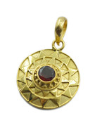 fair Ruby CZ Gold Plated Red Pendent genuine jaipur US gift - $19.79
