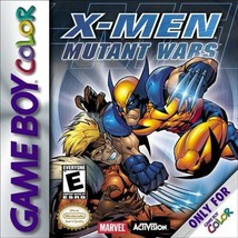 X-Men Mutant Wars Gameboy Color Great Condition Fast Shipping - $8.94