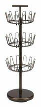 Spinning Shoe Tree Holder 18 Pair 3 Tier Footwear Tower Adjustable Organ... - £51.12 GBP