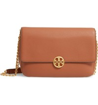 NWT TORY BURCH CHELSEA PEBBLED LEATHER CONVERTIBLE SHOULDER BAG CLASSIS TAN - $386.04