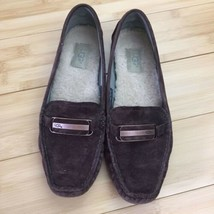 Nearly New UGG Australia Loafers Flats Suede Fur Brown moccasins Sz 8 - $79.00