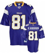 REEBOK MINNESOTA VIKINGS ROBINSON JERSEY ON field L LARGE LG PURPLE NEW - $32.71