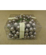 Designer Glass Balls Decorative Silver 1in Diameter Lot of 50+ - $19.55