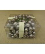 Designer Glass Balls Decorative Silver 1in Diameter Lot of 50+ - $19.55
