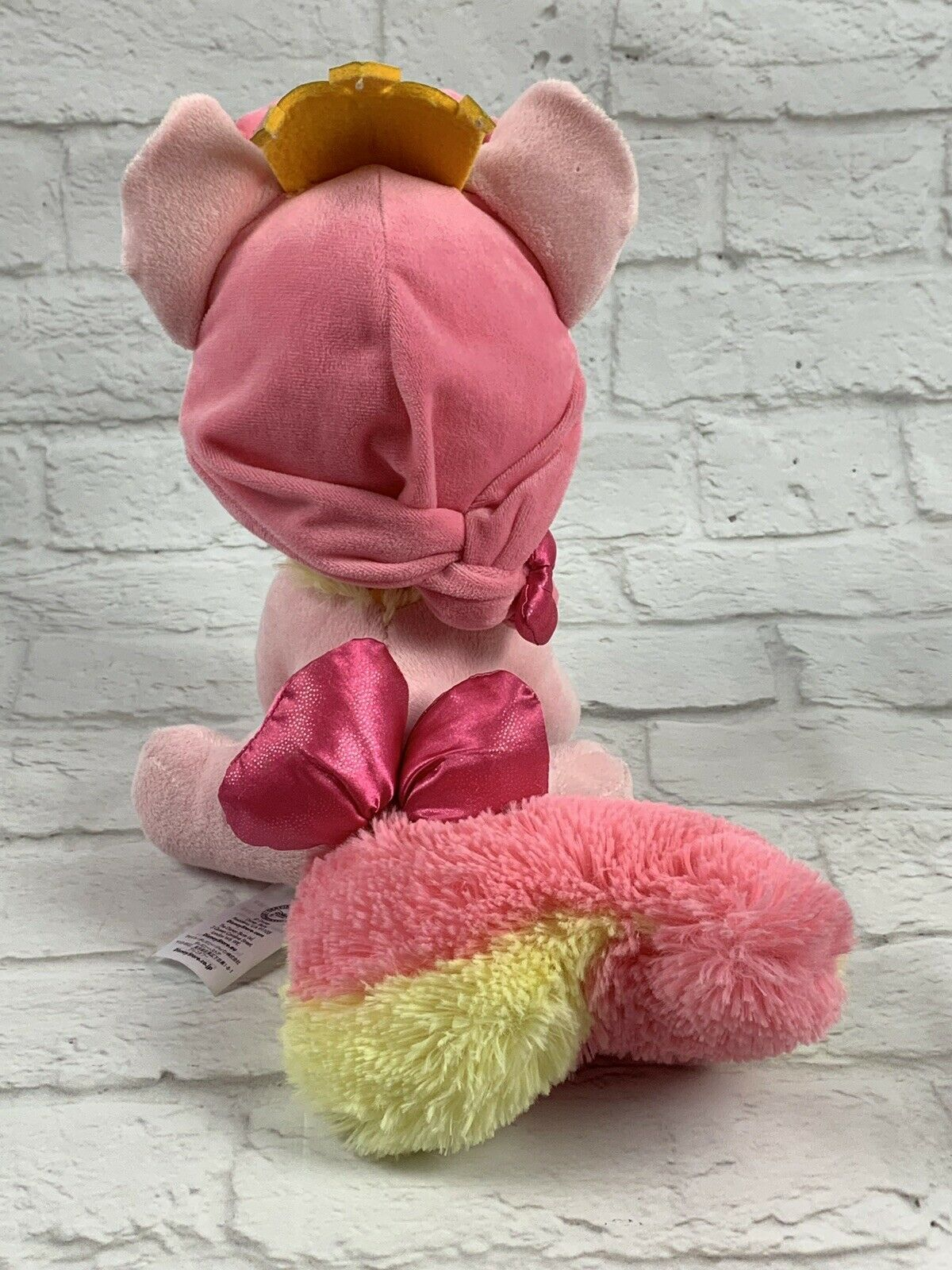 "Disney Store Palace Pets Whisker Haven Rogue Belle Cat 12"" Plush Pink Princess"