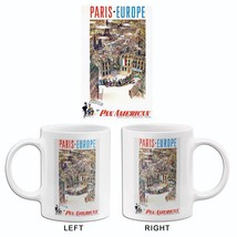 Paris - Europe - Pan American Airlines - 1959 - Travel Poster Mug - $23.99+