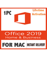 Office 2019 Home and Business for Mac - 1PC - LifeTime - INSTANT DELIVERY - $90.90