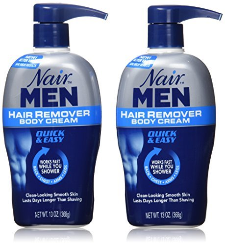 Nair Men Hair Removal Body Cream 13 oz Pack of 2