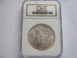 1885-O , Morgan Silver Dollar , NGC , MS 63 - $85.00