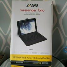 ZAGG Apple iPad 10.2-inch Bluetooth Ultra Thin Tablet Keyboard Messenger... - $29.64