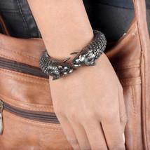 Double Elephant Bangle Bracelet 2.03Ct Tsavorite Diamond 14K Yellow Gold... - $3,371.94