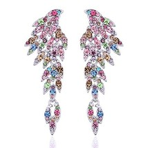 mecresh Vintage Style Wedding Crystal Rhinestone Cluster Chandelier Holl... - $16.98