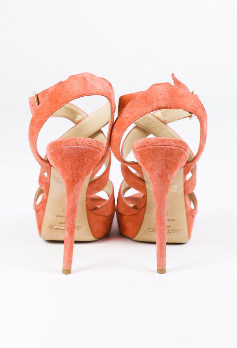 Jimmy Choo Strappy Suede Sandals SZ 38