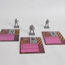 X Men Alert Game 3 Figures And Power Stat Cards Cable Havok Longshot 1992 - $17.81