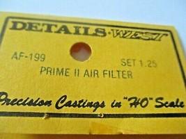 Details West # AF-199 Rrime II Air Filter Set  HO-Scale image 2
