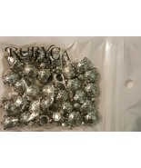 RUBYCA Tibetan Silver Tone Color Spacer Charms 30 Turtle Shaped Beads - $9.00