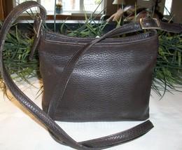 Coach Hudson Small Zip Pebbled Leather Shoulder Crossbody Bag 6807 Mahog... - $27.00