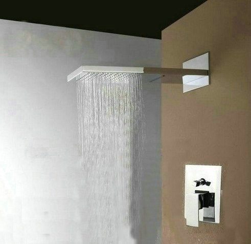 Primary image for Sanitary Luxury 22-inch Shower Head Wall Mount Rainfall Bathroom Double-function