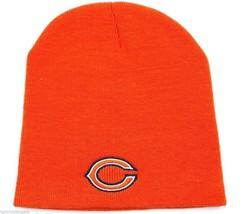 Chicago Bears NFL Team Apparel Cuffless Knit Football Winter Hat/Beanie/Toque - $16.14