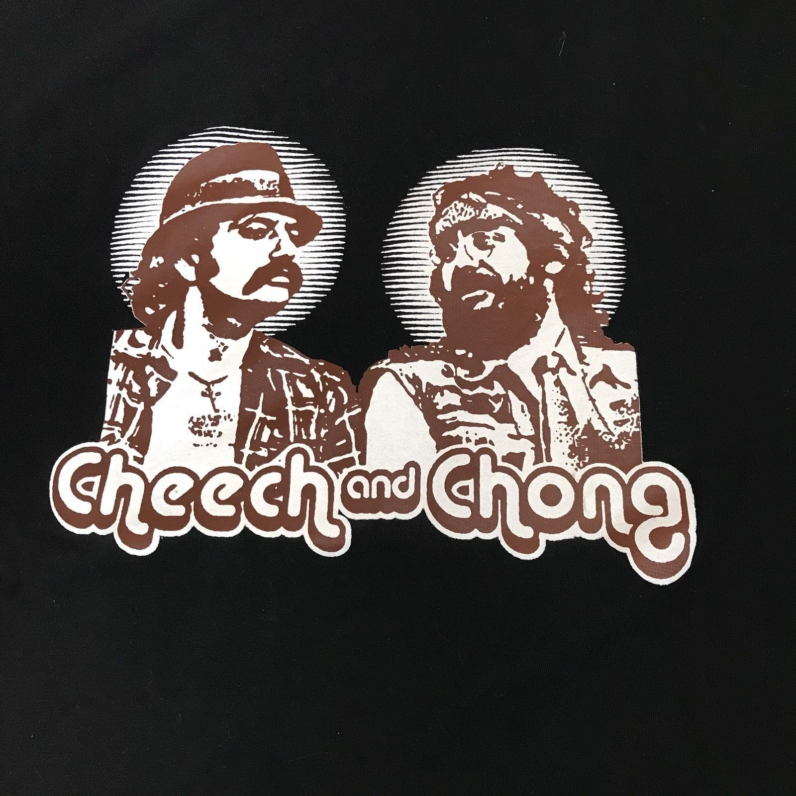 Cheech And Chong Up In Smoke T Shirt Black With Brown Graphic Men's Size XL