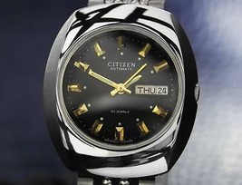 Vintage Citizen 21-Jewel Day Date Automatic Stainless Steel Men 1970 Wat... - $457.91