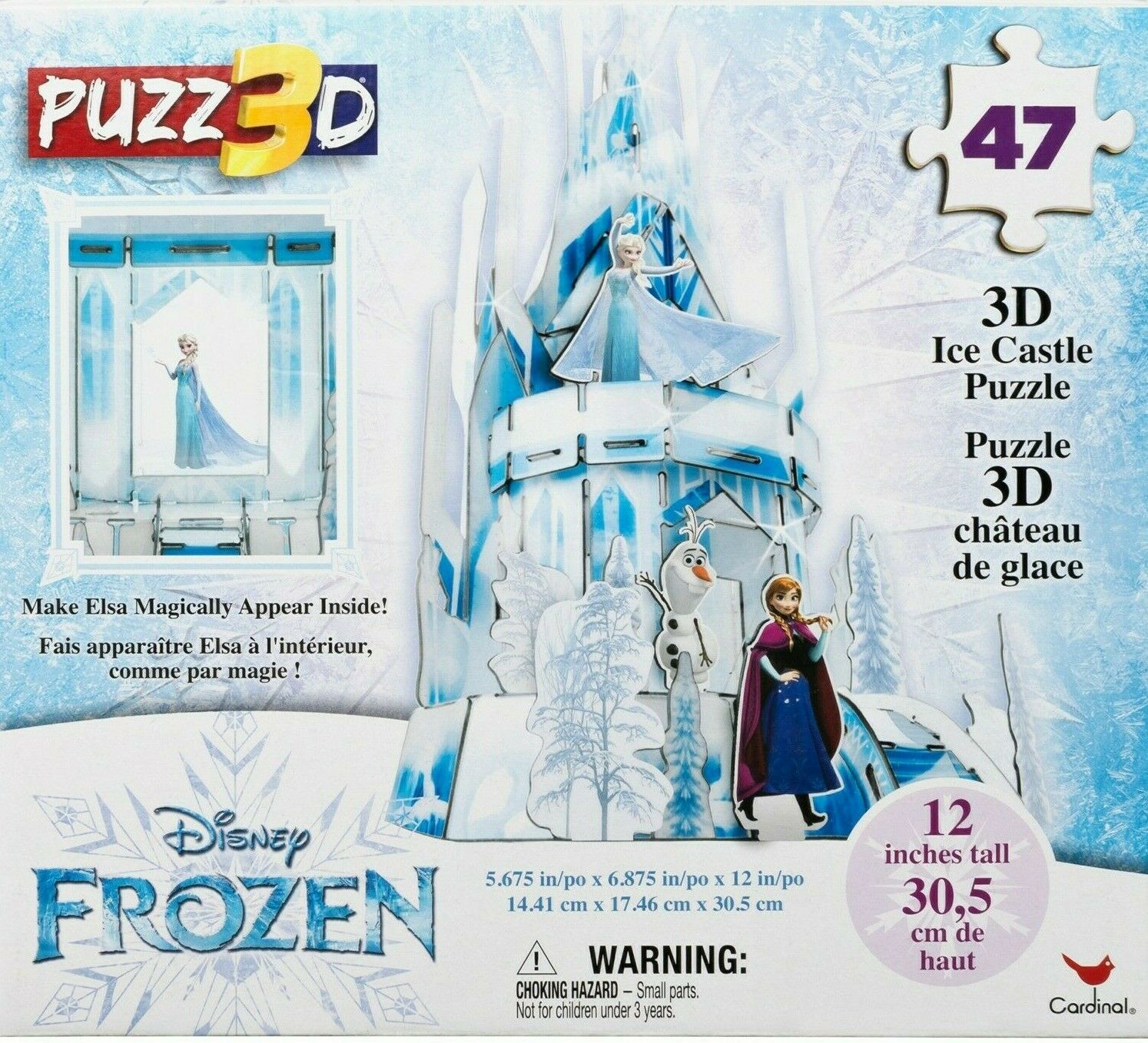 Frozen 3D Elsa Hologram Ice Castle Puzzle 47 Pieces 12 in Tall Ages 3+ - $18.05