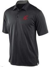 Mens Nike Anthracite Black Washington State Cougars Coaches Dr-Fit Polo 3XL XL - $44.99