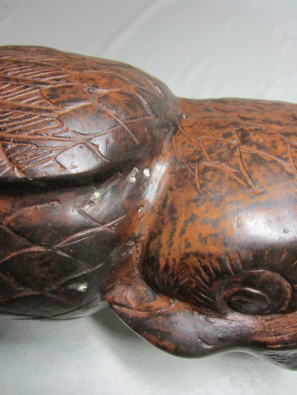 "Large Vintage Hollow Metal Owl Figurine Art Sculpture Statue Indonesia 16"""