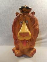 "Vintage 1971 Play Pal Lippy Linus Lion King Large Plastic Vinyl Bank 13"" - $14.95"