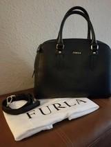 FURLA Elena Saffiano Leather Handbag Satchel Removable Shoulder Strap ITALY - $199.00
