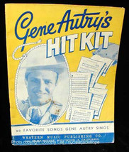 Gene Autry Hit Kit Song Book 1946 - $16.99