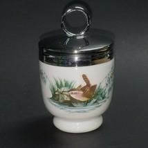 Egg Coddler Royal Worcester Porcelain Signed Birds Design Made in England - $12.82