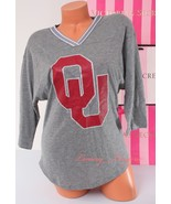 PINK VS Collegiate Collection Oklahoma Sooners Logo 1/2 Sleeve T-Shirt X... - $39.99